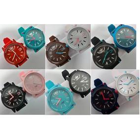 Kit 10 Relógios Color adidas Várias Cores Fem Masc + Brinde