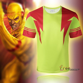 Playera Corta Comics Superheroes The Flash Hombre Xtreme P
