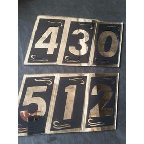 Numero Vidro Espelhado Grande Condominio 21x10,5 4mm Kit 3un
