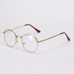 Armação De Óculos De Grau Unissex De Metal Fino Várias Cores 94e1315201