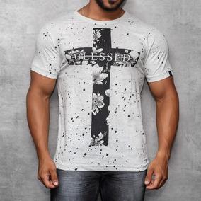 Camisa T-shirt Silk Camiseta Blessed Manga Curta Off