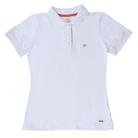 2f07c34353 Camisa Polo Feminina Branca Wrangler 19776