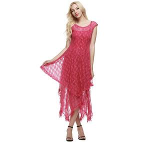 Vestido Con Encaje - Vestidos de Mujer Azul claro en Mercado Libre ... 40c740802d64