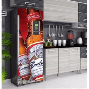 Adesivo Envelopamento Budweiser Geladeira Freezer Decorativo