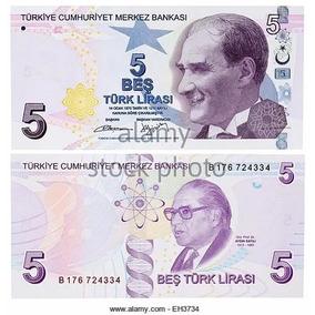 Cédula Turkey Turquia 5 New Lira Turca Fe / Frete Grátis