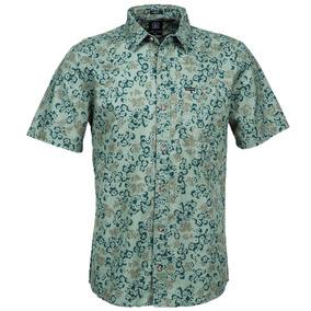 0307c9616d1 Camisa Manga Corta Volcom Playera Donnie Ss Verde Floral