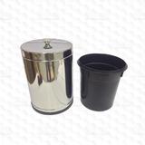 Cesto Lixo Lixeira Inox Pia Banheiro Cozinha 4,5l - 3510