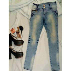Jeans Azules Levanta Trasero Nuevo