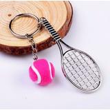 Chaveiro Tênis Raquete+bola Wilson, Jogo De Tenis