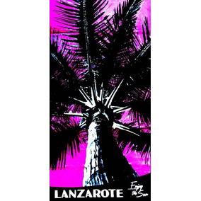Toalha De Praia Palmera Lanzarote Rosa 76 X 152cm
