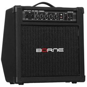 Amplificador Cabeçote P/ Baixo Borne Impact Bass Cb80 Preto