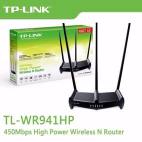 Roteador 3 Antenas Atravessa Parede Tp Link Tl-wr941hp 450mb