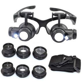 Relojoeiro Joalheiro Ourives Óculos Lupa Ideal De Cabeça Led 840ae7185e