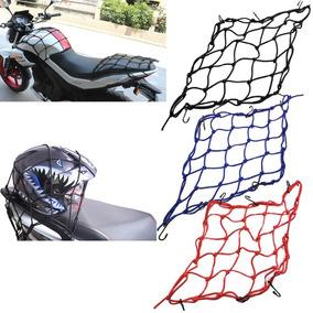 Rede P/ Bagageiro Moto Ou Bike 30x30 C/ 6 Ganchos