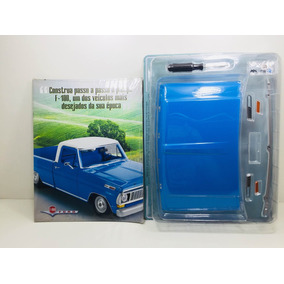 Fascículo Número 01 Ford Pick-up F-100 1957 Azul 1/8 Salvat