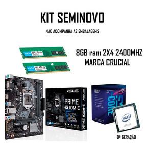 Kit Intel Core I3 8100 Asus H310m E Crucia 2x 4gb 2400mhz