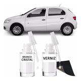Tinta Tira Risco Automotivo Volkswagen Gol Branco Cristal