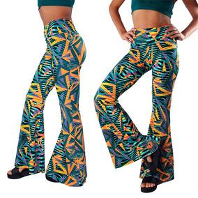 Calça Flare Estampada - Calças Feminino no Mercado Livre Brasil 1d412048e8b