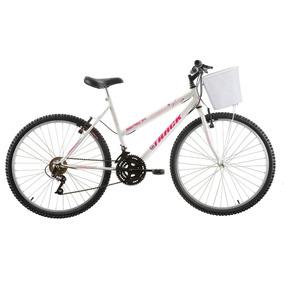 Bicicleta Aro 26 Serena 18v Branca - Track Bikes