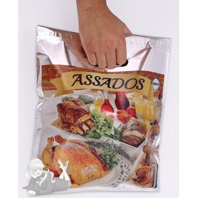 Embalagem Frango Assado Sacola Térmica Resistente - 100 Unid