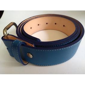 Cinturon Beisbol Azul Varias Tallas 28 A 42 Softbol Piel a40273f52797