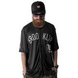 Camisa De Baseball Brooklyn Streetwear Swag Skate Rap Preta