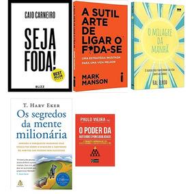 Seja Foda! + O Milagre Da Manhã + A Sutil Arte + 2 Livros