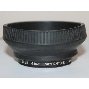 Combo Filtro Hoya 49mm Skylight 1b + Parasol De Goma