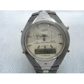 Relógio Potenzia Analogio E Digital Usado Como Mostruário