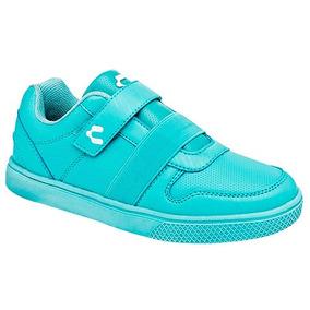 Tenis Sneaker Charly Niñas Sintético Verde T84138 Dtt