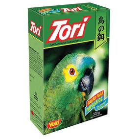 5 Unidades Ração Para Papagaio Tori 500g