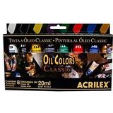 Tinta Óleo Acrilex Cj.8 Cores *frete+barato* +superfícies