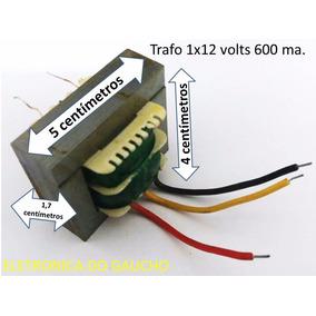 Transformador 1x12 Volt 600 Ma 5x4 Cm. Para Fontes Diversas