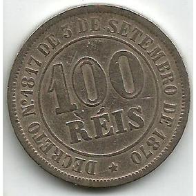 Egoto-v 008-moeda 100 Réis 1878 Cupro-níquel Império