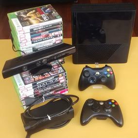 Xbox 360 Completo Com 2 Controles + Kinect + Jogos. Acesse!