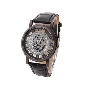 30a3662f60c Relógio Quartz Masculino Luxo Pulseira Couro Preto Curren - Relógios ...
