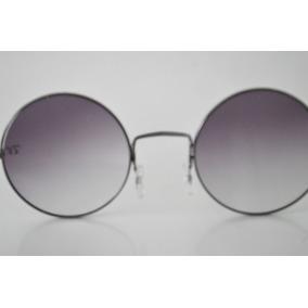 Oculos De Sol Lentes Redondas Jhon Lennon Rock In Black. R  69 99 22556edacb