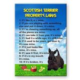 Imanes De Refrigerador,imán Scottish Terrier Leyes De Pr..