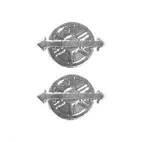 Breve Distintivo De Gola Cromado Motorista Padrão Rue (par) a8035f639a7