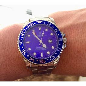 Rolex Gmt Master Ii Preto E Dourado E Azul Frete Grátis