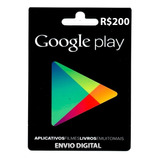 Cartão Google Play Store Gift Card R$200 Reais Br Android