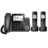 Teléfono Panasonic Inalá Con 2 Auxiliares Exp A 6 Auxiliares