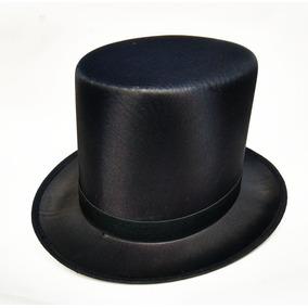 Elegante Sombrero Copa Disfraz Chistera Mago Cabellero 36927b7d947