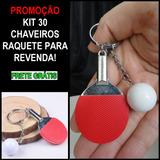 Chaveiro Mini Raquete Tenis De Mesa Ping Pong 30 Unidades