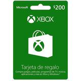 Xbox 200$ Tarjeta De Regalo