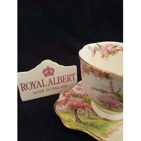 Royal Albert England Blossom Time Xícara Chá E Prato De Bolo