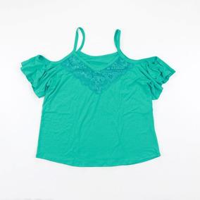 Blusa Camisa Feminina Detalhe De Renda Alça Moda Verão 240