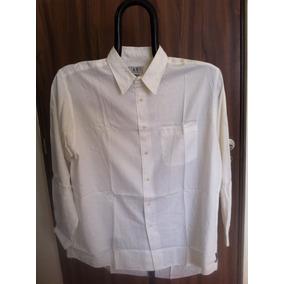 Armani Exchange A/x Camisa L Manga Larga Crema, Usada 1 Vez