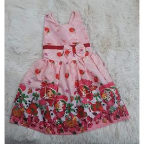 Vestidos Temático Moranguinho 1 Ao 10