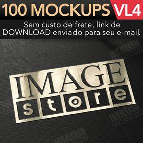 Mockup Logomarca Para Adobe Photoshop 100 Mockups Vol 4